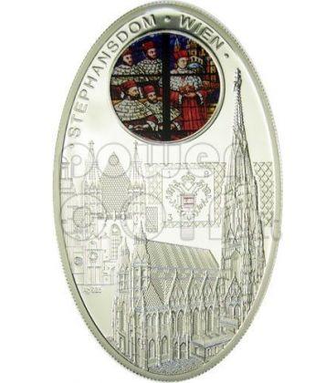 CATTEDRALI GOTICHE SANTO STEFANO Stephansdom Vienna Cattedrale Moneta Argento 1$ Niue Island 2010