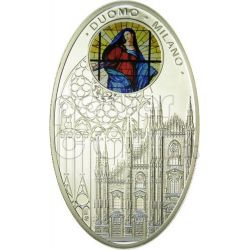 CATTEDRALI GOTICHE DUOMO MILANO Cattedrale Moneta Argento 1$ Niue 2010