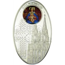 GOTHIC CATHEDRALS COLOGNE Kolner Dom Koelner Silver Coin 1$ Niue Island 2010
