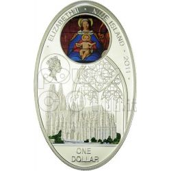 GOTHIC CATHEDRALS COLOGNE Kolner Dom Koelner Moneda Plata 1$ Niue 2010