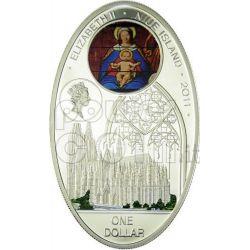 GOTHIC CATHEDRALS COLOGNE Kolner Dom Koelner Silber Münze 1$ Niue 2010