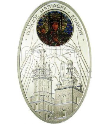 GOTHIC CATHEDRALS MARIACKI CHURCH Cracow St. Mary Basilica Silver Coin 1$ Niue Island 2011