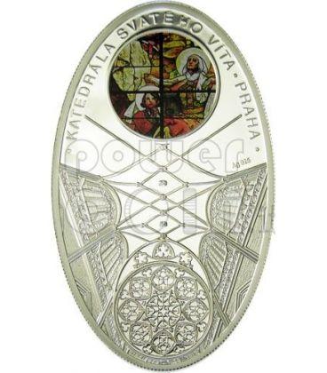 CATTEDRALI GOTICHE SAN VITO PRAGA Svateho Vita Cattedrale Moneta Argento 1$ Niue 2011