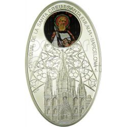 CATTEDRALI GOTICHE BARCELLONA Santa Creu i Santa Eulalia Cattedrale Moneta Argento 1$ Niue 2011