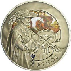 THREE MUSKETEERS Athos Porthos Aramis D'Artagnan 4 Moneda Plata Set Zirconia Belarus 2009