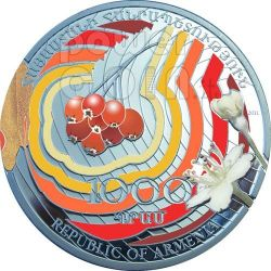 ROWAN SORBUS Beauty Of Flowers Silver Coin 1000 Dram Armenia 2011
