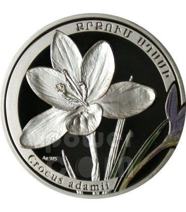 CROCUS Beauty Of Flowers Silver Coin 1000 Dram Armenia 2011
