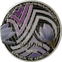 CROCUS CROCO Beauty Of Flowers Moneta Argento 1000 Dram Armenia 2011
