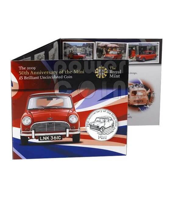 MINI 50 YEARS BU Монета Pack £5 Олдерни UK Royal Mint 2009
