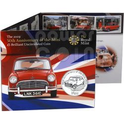 MINI 50 YEARS BU Münze Pack £5 Alderney UK Royal Mint 2009