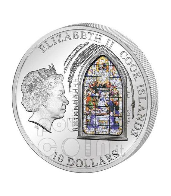 WINDOWS OF HEAVEN SIVIGLIA Sevilla Cattedrale Moneta Argento 10$ Cook Islands 2011