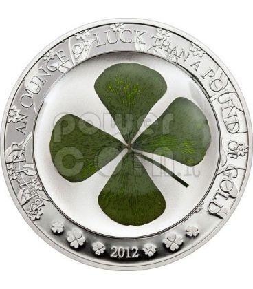 QUADRIFOGLIO PORTAFORTUNA Moneta Argento 5$ Palau 2012