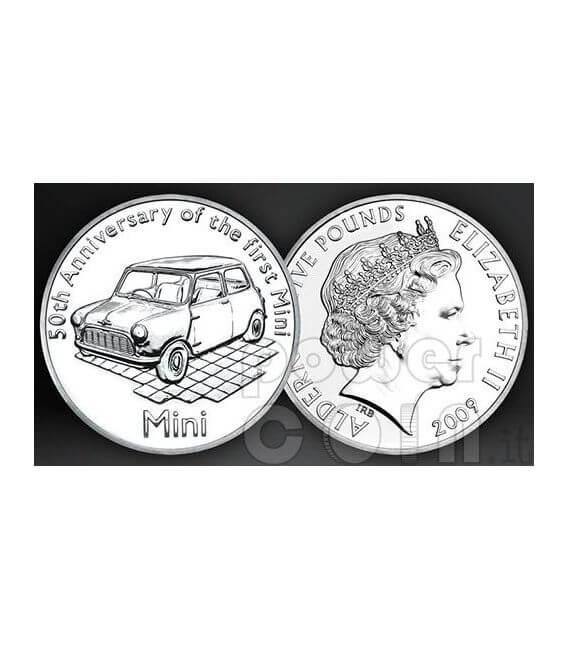 MINI 50 YEARS BU Münze Pack £5 Alderney UK Royal Mint 2009