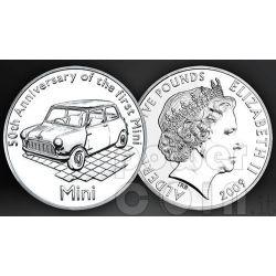 MINI 50 YEARS BU Moneda Pack £5 Alderney UK Royal Mint 2009