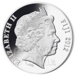 DRAGON Pearl Lunar Year 1 Oz Moneda Plata 10$ Fiji 2012