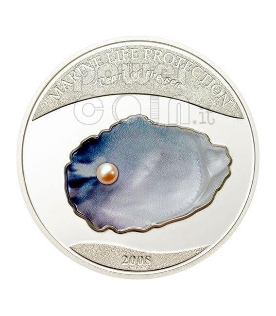 PERLA DEL MARE Marine Life Moneta Argento 5$ Palau 2008