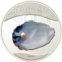 PEARL Jewels Of The Sea Marine Life Moneda Plata 5$ Palau 2008