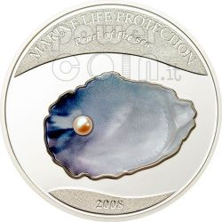 PEARL Jewels Of The Sea Marine Life Silber Münze 5$ Palau 2008
