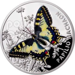 OLD WORLD SWALLOWTAIL Machaon Butterfly Silver Proof Coin 1$ Niue 2011