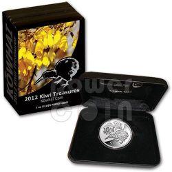 KIWI TREASURES KOWHAI FLOWER Серебро Proof Монета 1$ Новая Зеландия  2011