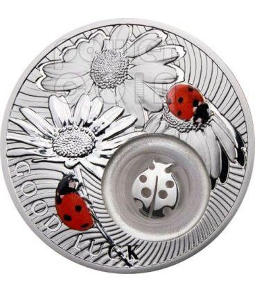 LADYBIRD GOOD LUCK Lucky Ladybug Silver Coin 1$ Niue Island 2011
