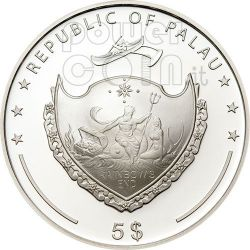 PEARL Jewels Of The Sea Marine Life Silver Coin 5$ Palau 2008
