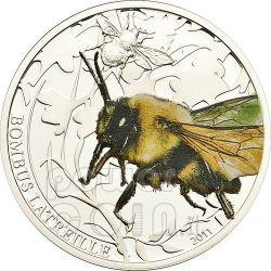 BOMBUS BEE Bumble World Of Insects Moneda Plata 2$ Palau 2011