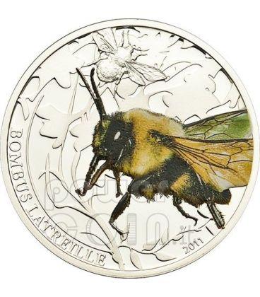 BOMBO Ape Calabrone World Of Insects Moneta Argento 2$ Palau 2011