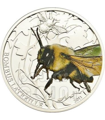 BOMBUS BEE Bumble World Of Insects Silver Coin 2$ Palau 2011