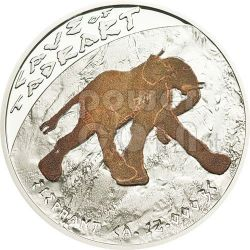 CAVE OF TADRART Elephant Prehistoric Art Cave Painting Silver Coin 1$ Niue 2011