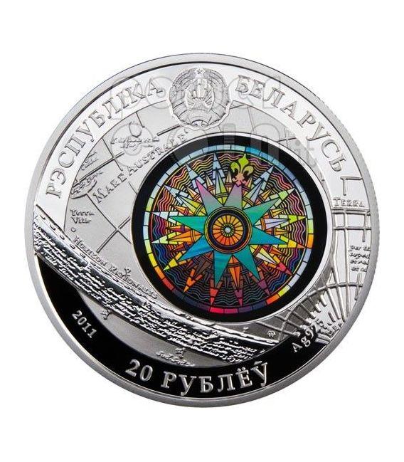 KRUZENSHTERN Veliero Moneta Argento Ologramma Bielorussia 2011