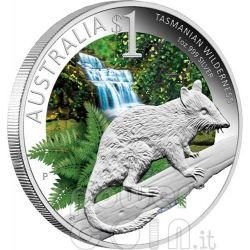 TASMANIAN WILDERNESS CELEBRATE AUSTRALIA Adelaide ANDA Show Silver Coin 1$ 2011