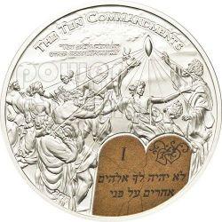TEN COMMANDMENTS (1) First Commandment Silver Coin 2$ Palau 2011
