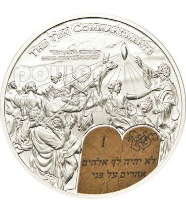 DIECI COMANDAMENTI (1) Primo Comandamento Moneta Argento 2$ Palau 2011