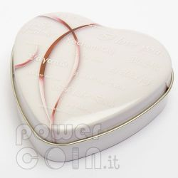 HEART SHAPED COIN BOX Jewel Case Etui Package For Münzen Medals 45-55 mm