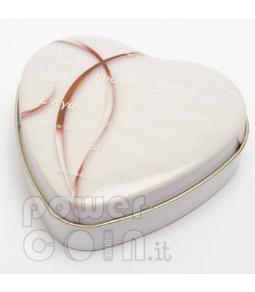 HEART SHAPED COIN BOX Jewel Case Etui Package For Coins Medals 45-55 mm