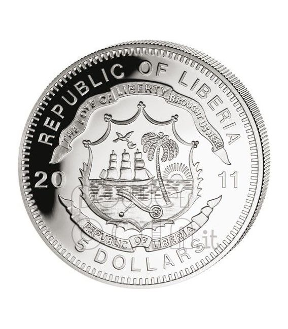 IMPERIAL ROYAL AUSTRIA KKSTB Railway Railroad Steam Train Locomotive Silber Münze 5$ Liberia 2011