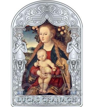 MADONNA VIRGIN CHILD UNDER APPLE TREE Lucas CRANACH Renaissance Silver Coin 15D Andorra 2012