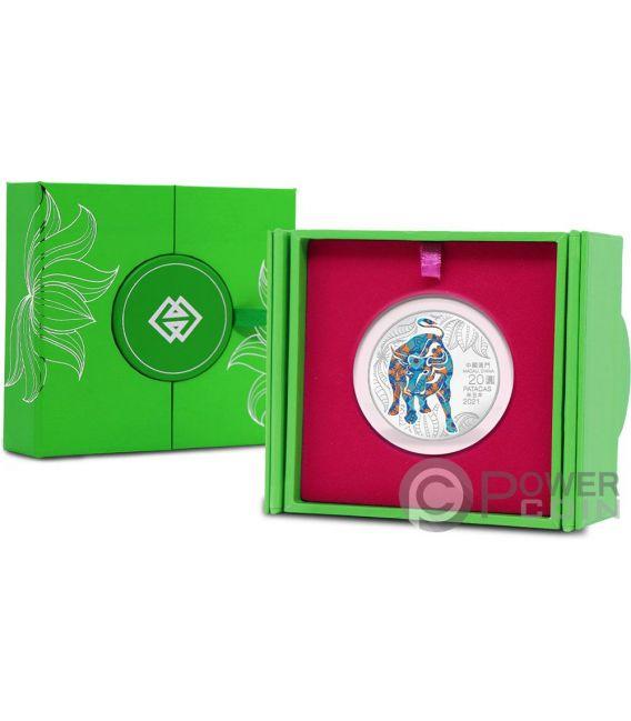 OX Lunar Year 1 Oz Silver Coin 20 Patacas Macau 2021 ...