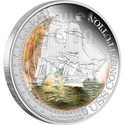 USS CONSTITUTION Ships That Changed The World Silver Coin 1$ Tuvalu 2012