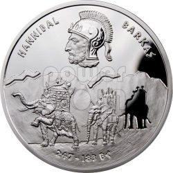 HANNIBAL Barkas Great Commanders Silver Coin 1$ Niue 2012