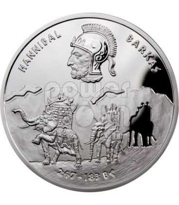 HANNIBAL Barkas Great Commanders Silver Coin 1$ Niue 2012