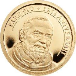PADRE PIO Of Pietrelcina 125th Anniversary Birth Gold 999 Coin 1D Andorra 2012