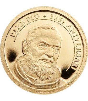 PADRE PIO San Pio Da Pietrelcina 125 Anniversario Moneta Oro 1D Andorra 2012
