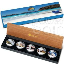 DISCOVER AUSTRALIA Five Coin Set 5 Silver Coins 1$ Australia 2012