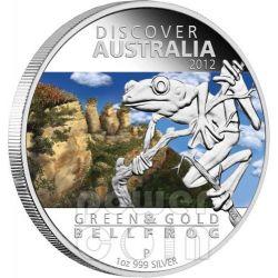 DISCOVER AUSTRALIA Five Moneda Set 5 Plata Monedas 1$ Australia 2012