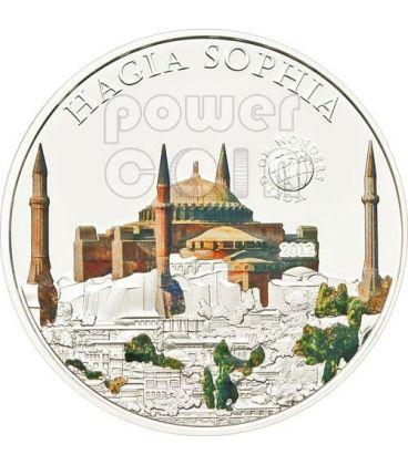 HAGIA SOPHIA Basilica Santa Sofia Istanbul World Of Wonders Moneta Argento 5$ Palau 2012