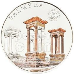 PALMYRA Palmira Siria World Of Wonders Moneta Argento 5$ Palau 2012