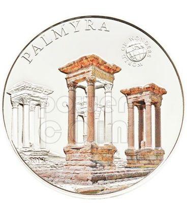 PALMYRA Palmira Siria World Of Wonders Moneta Argento 5$ Palau 2012