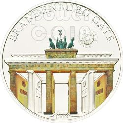 PORTA DI BRANDEBURGO Germania World Of Wonders Moneta Argento 5$ Palau 2012